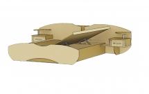 """""""Марго"""" М-609А Кровать с боковым подъемным механизмом(1400).Венге."""