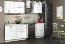 Кухня Белый глянец, прямая 1,8