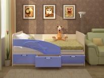 """Кровать """"Дельфин""""1.6(голубой)"""