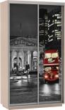 """Шкаф-купе 1200""""Фото хит""""(Дуб молочный) Лондон"""