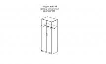 """""""Милена""""МЛ-03 Шкаф 2-хдверный(2230х900х650)"""