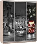 "Шкаф-купе 1800""Фото трио""(Дуб молочный) Лондон"
