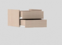 Модуль с ящиками(Дуб молочный)