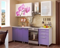 "Кухня 1,6м ""Орхидея""МДФ"