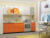 """Кухня """"Апельсин"""" фотопечать"""